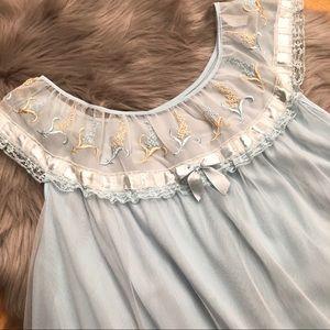 Vintage Baby Blue Slip Nightgown
